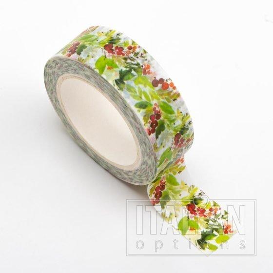 Adhesive Washi Tape - Holly 15mm x 10m