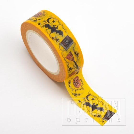 Adhesive Washi Tape - Halloween Theme 15mm x 10m