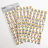 Rainbow Alphabet Stickers (2 Sheets - 108 pcs)