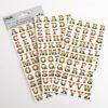 Rainbow Alphabet Stickers (2 Sheets - 108 pcs)