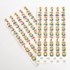 Rainbow Number Stickers (2 Sheets - 118 pcs)