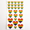 Rainbow Heart Stickers (2 Sheets - 56pcs)
