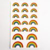 Rainbow Shape Stickers (2 Sheets - 38pcs)