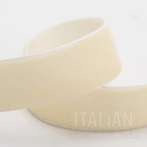 Velvet Ribbon Antique Ivory - 9mm, 18mm, 25mm