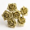 Gold Glitter 5cm Colourfast foam rose - bunch of 6