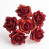 Red Glitter 5cm Colourfast foam rose - bunch of 6