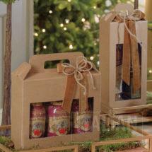 Rustic Kraft Carry Box with Window