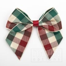 10cm Tartan Bow - Country - (Self Adhesive) - 6 Pack - 38mm Ribbon