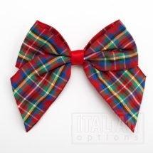 10cm Tartan Bow - Highland (Self Adhesive) - 6 Pack - 38mm Ribbon
