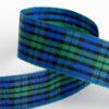 25mm Tartan Ribbon Green/Blue x 10M