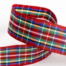 25mm Highland Tartan Ribbon x 10M