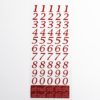 15mm - Script Self Adhesive Numbers - Red Glitter