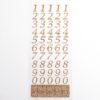 15mm - Script Self Adhesive Numbers - Rose Gold Glitter
