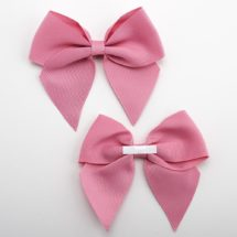 Antique Pink - 10cm Grosgrain Ribbon Bow - (Self Adhesive) - 6 Pack
