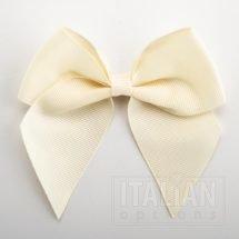 Cream - 10cm Grosgrain Ribbon Bow - (Self Adhesive) - 6 Pack