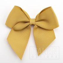 Gold - 10cm Grosgrain Ribbon Bow - (Self Adhesive) - 6 Pack