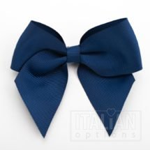 Navy - 10cm Grosgrain Ribbon Bow - (Self Adhesive) - 6 Pack