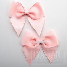 Pale Pink - 10cm Grosgrain Ribbon Bow - (Self Adhesive) - 6 Pack