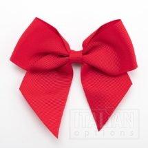 Red - 10cm Grosgrain Ribbon Bow - (Self Adhesive) - 6 Pack