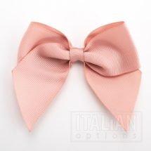 Rose Gold - 10cm Grosgrain Ribbon Bow - (Self Adhesive) - 6 Pack