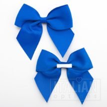 Royal Blue - 10cm Grosgrain Ribbon Bow - (Self Adhesive) - 6 Pack