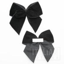 Black – 10cm Velvet Ribbon Bow – (Self Adhesive) – 6 Pack