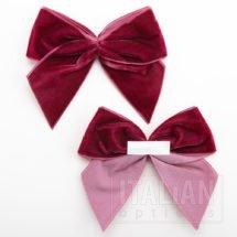Burgundy – 10cm Velvet Ribbon Bow – (Self Adhesive) – 6 Pack