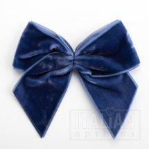 Navy – 10cm Velvet Ribbon Bow – (Self Adhesive) – 6 Pack
