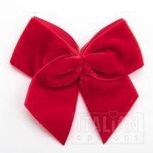 Red – 10cm Velvet Ribbon Bow – (Self Adhesive) – 6 Pack
