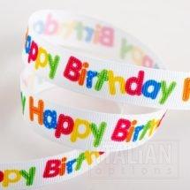 Happy Birthday grosgrain ribbon