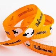 Halloween & Bats Grosgrain Ribbon - 16mm x 5M - Orange