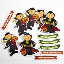 Halloween Die Cut Vampire Shapes (12 pcs)