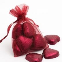 burgundy organza bag