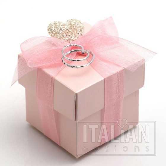 pink satin boxes