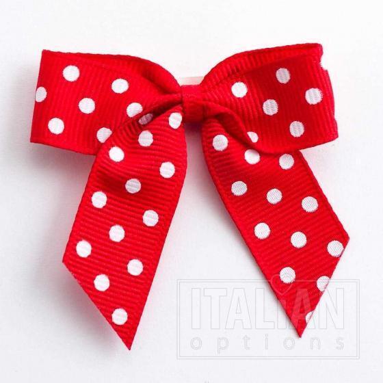 Red 5cm Polka Dot Grosgrain Bow 5707