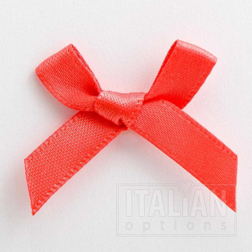 6mm Satin Bows 3cm Wide Pack of 100 Cerise 7909