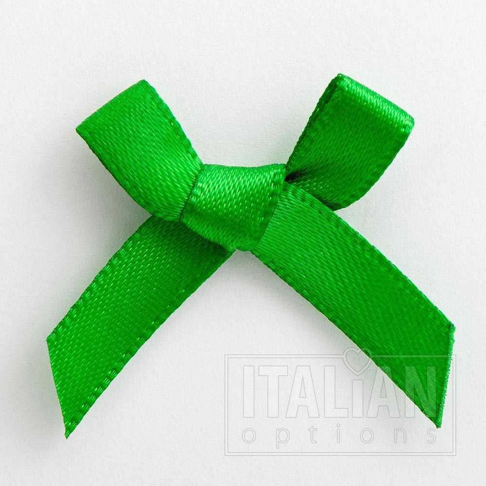6mm Satin Bows 3cm Wide Pack of 100 Emerald Green 7914