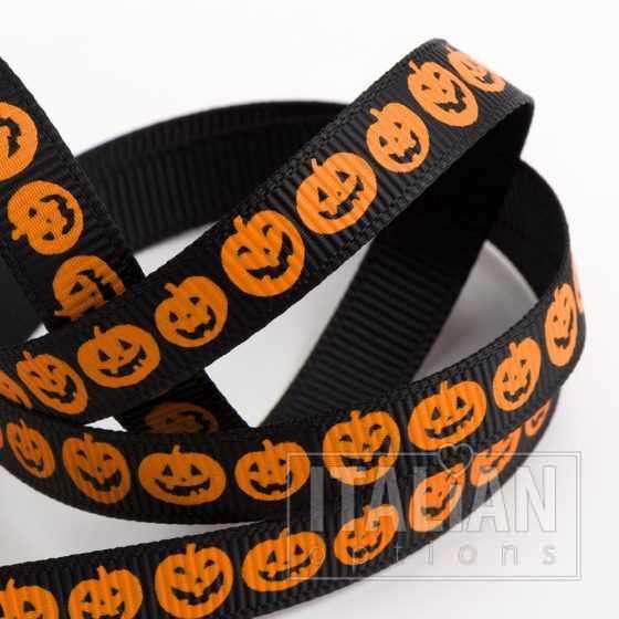 Pumpkin Halloween Grosgrain Ribbon