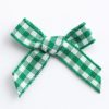Green 3cm Gingham Ribbon Bow 9227
