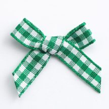 3cm Gingham Ribbon Bows