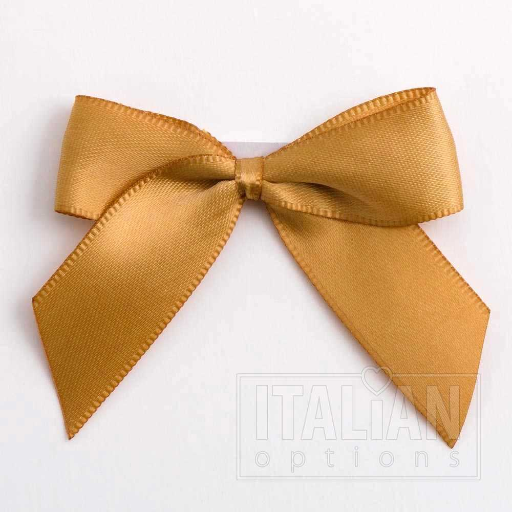 5cm Satin Bows Self Adhesive Yellow Gold
