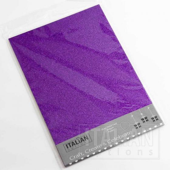 purple glitter card